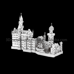 Laser-cut Nano Metallic Building New Swan Stone Castle Super 3D Puzzle