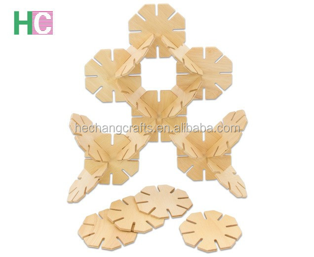 Natural Wood Toy Kids Educational 3D Wooden Puzzle Pieces