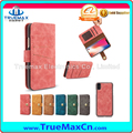 Mobile Phone Luxury Retro Magnetic Flip Leather Case with Card Slot For iPhone 8 X