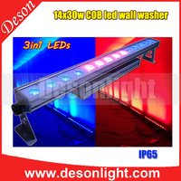 City Aluminum base 30w 14 LED RGB 3IN1 tri-olor outdoor led lights wall washer light