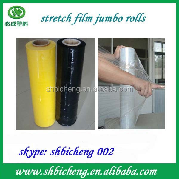 Black and White PE Stretch Film Jumbo Rolls