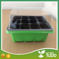 Durable Plastic 12 cell Plant Seed Grow Starting Germination Kit , Seed Tray With Dome