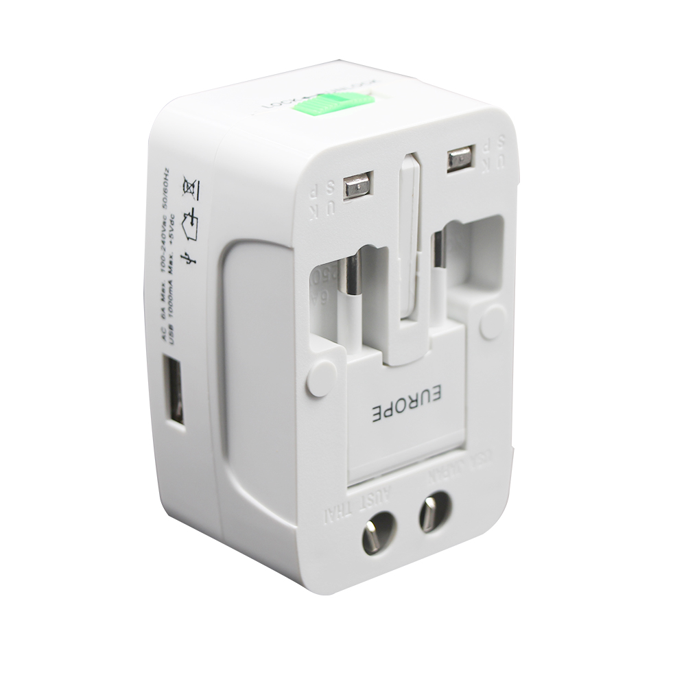 Universal All in One Worldwide Travel Adapter.Wall Charger AC Power Plug Adapter