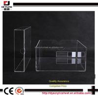 White acrylic box clear acrylic shoe box display