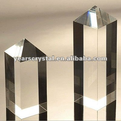 crystal blank block for custom laser engraving gift