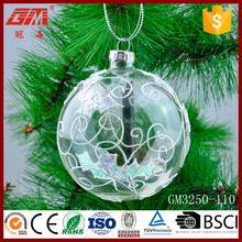 100 wholesale clear glass christmas ball ornaments