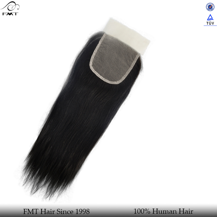 Silk and soft 100% human unprocessed straight wave lace closure
