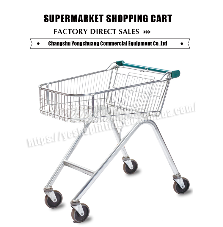 best selling Chinese supplier 4 wheelers supermarket shopping cart