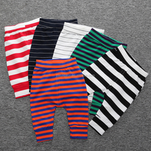 AL2040I New fashion trousers striped cotton infant leggings harem pants baby pants