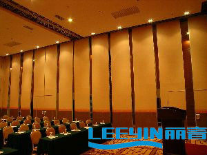 2017 acoustic sliding folding partition fashion wall material for meeting room