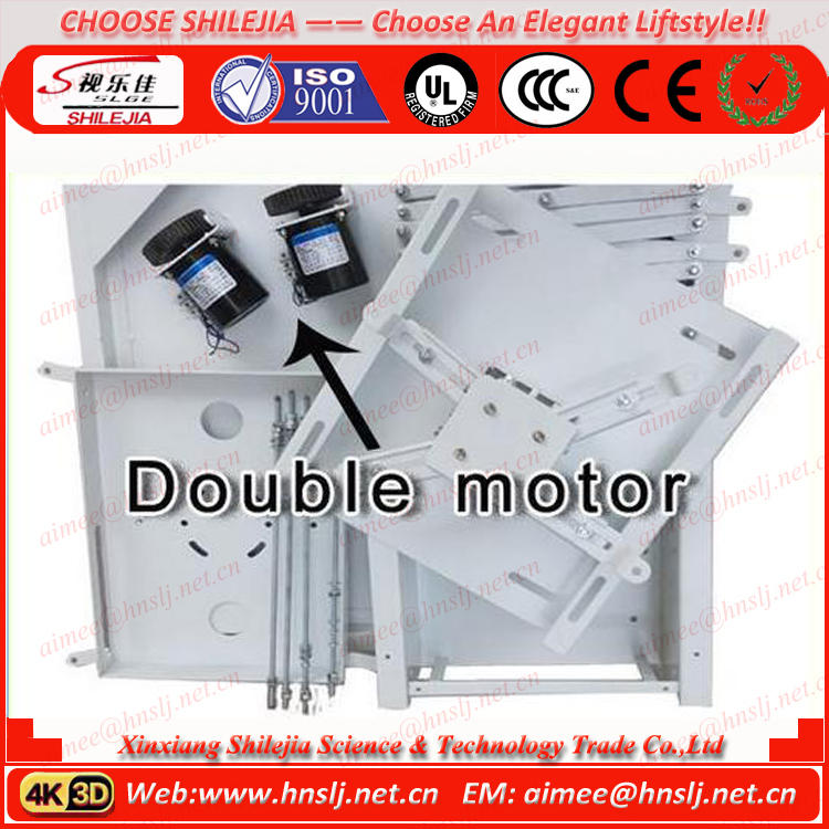 Motorized Scissor Type Ceiling Lifts For Projector Beamer Synchronous Motor LCD Monitor Motorized Lift With Remote Control