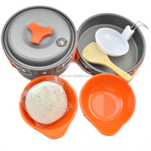 outdoor backpack orange camping cookware mess 8 piece kit for Camping&Hiking equipment