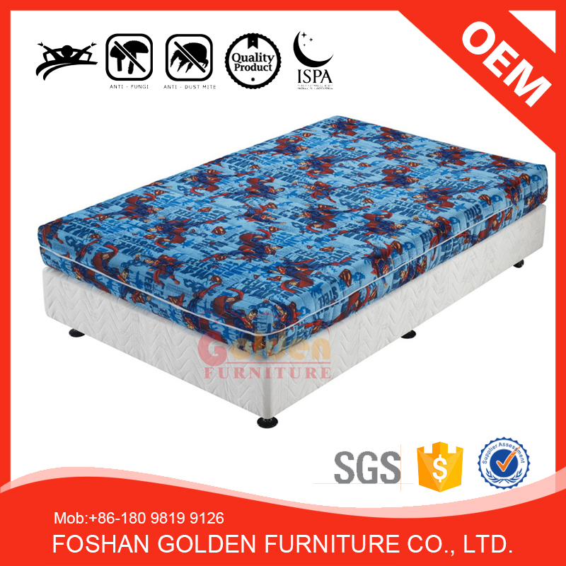 2017 New arribval!single bed mattress price for children with 12 years warranty