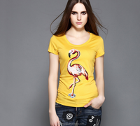 New Design Manufactory Custom Logo Women Print Different Colors T Shirt