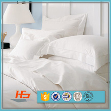 Luxury Hotel Linens Bed Sheet White Sateen Cotton Bedding Set