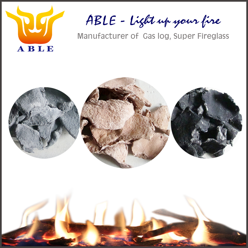 Ceramic fiber ember for gas fires Glowing embers