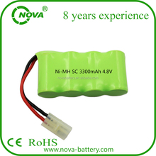 sc 3300mah 4.8v ni-mh rechargeable battery pack