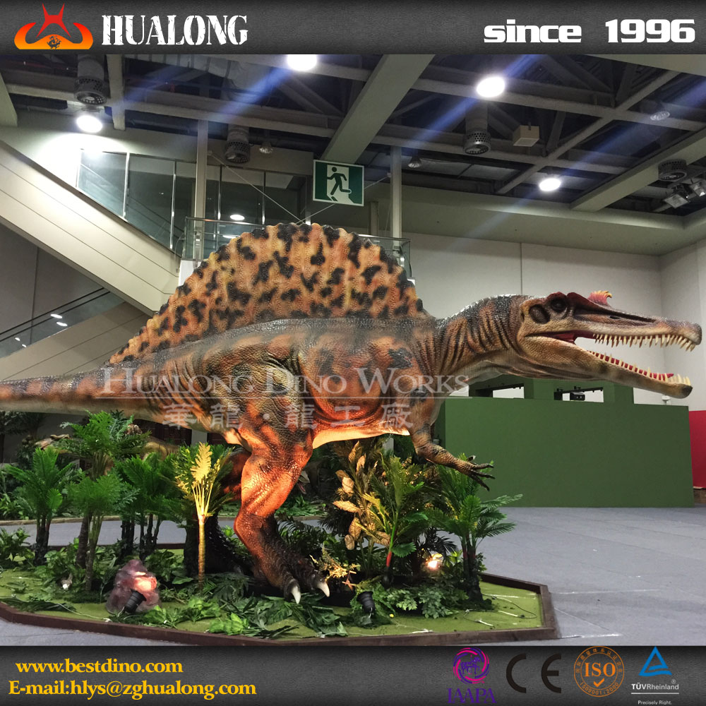 Attractive Lifelike Resin Robotic Exhibition Dinosaur
