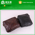 European fashion leather wallet short men pockets diagonal single shoulder bag