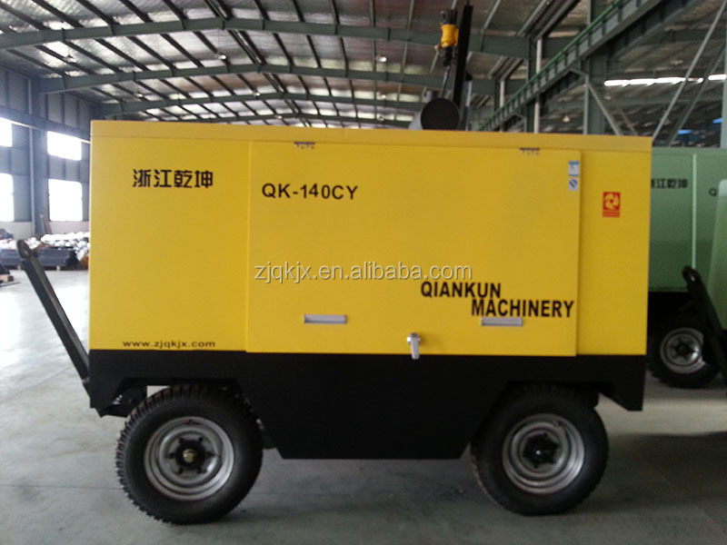 Factory direct sale air-cooling portable screw type diesel powered portable air compressor