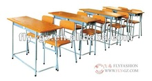 Professional Furniture Factory directly sales School Wooden student desk and chair