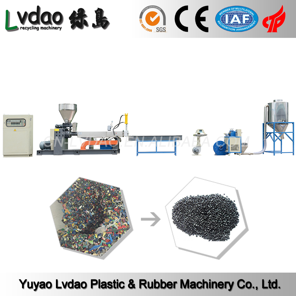 Hard scrap PC PA ABS high efficiency pp pe pet bottle recycling line