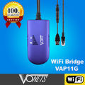 Hotsale! VONETS RJ45 Wireless WiFi bridge VAP11G for Dreambox/Xbox/IPTV