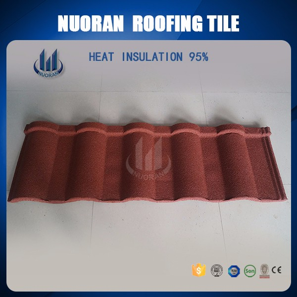 Nuoran cheap roofing materials online shopping india stone metal charcoal korean roof tiles