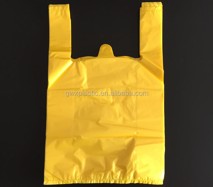 Plastic Material and HDP Plastic Type t-shirt plastic bag