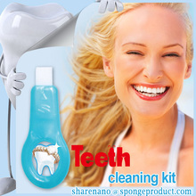 Dental accessories Teeth Whitening Dentist Kits 1 Blue Color Sticks with Cleaning Sponge Strip