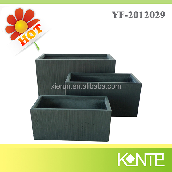 Fashion rectangular clay pottery