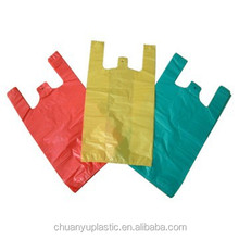 Good Quality Supermarket Industry Use High Capacity Glossy Surface <strong>PE</strong>/PO Plastic T-Shirt Bag
