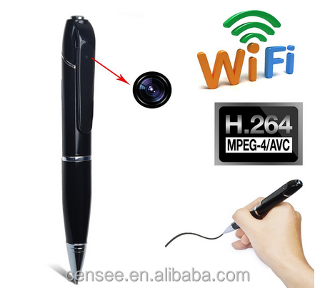 Wholesale New product full hd 1080p 2.0mp full hd pen camera wifi wireless camera with receiver usb pen camera