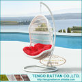 Factory Directly Outdoor Rattan Hanging Lounger furniture Rattan Wicker Swing Chair Hanging Chair (Y9096)