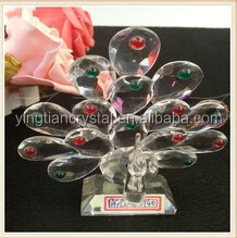 New Crystal peacock figurine products for home decoration and business gifts