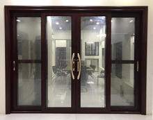 australia style soundproof large aluminium sliding glass door with two tracks