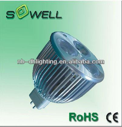 12V10V/230V 3W 3pcs G4 MR16 2800-7200K 50000hrs Green/Bule/Red LED spot lamp