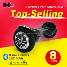 HX band 2 wheels Hoverboard 8 inch with LED Lights hoverboard factory