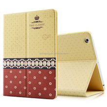 fully protective folio case color printing stand pu leather case for ipad 2 3 4 with custom design