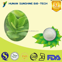 Natural Sweetener Stevia Leaf Extract / Stevioside / CAS NO. 91722-21-3 for Food and Beverage