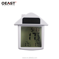 Hot selling house shape digital transparent window thermometer