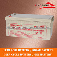 gel battery/deep cycle/high quality for solar system 12V 200AH