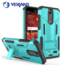 Dual Layer Cell Phone Case Hybrid Kickstand Case Cover For ZTE Grand X4