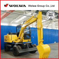 Chinese mini excavator for sale 6 ton wheel excavator DLS865-9A