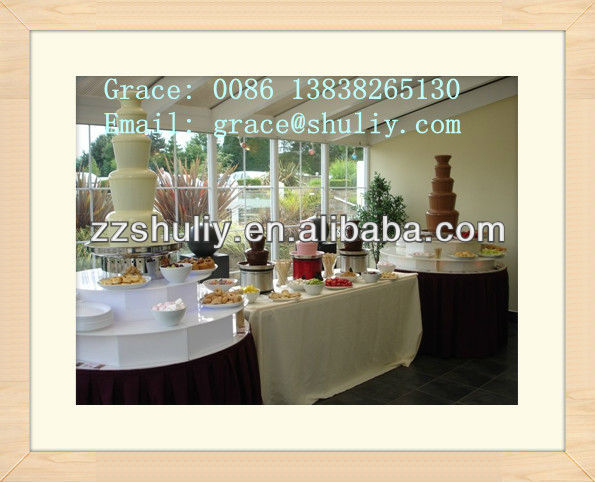 stainless steel commercial party 5 Tier chocolate fondue fountain 0086-13838265130