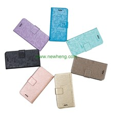Magnetic flip stand emboseed leather case for Samsung Galaxy note 8