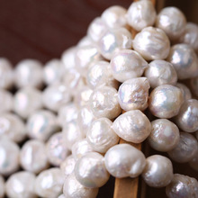 classic 10-11mm south sea natural baroque white pearl
