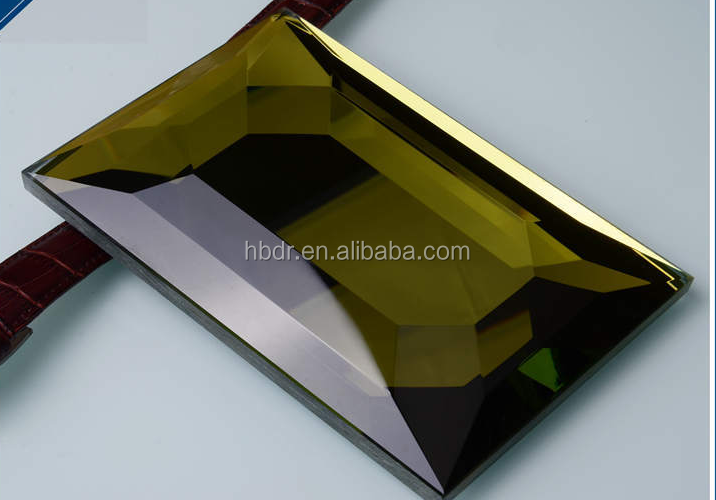 Colorful bevel mirror for home decorate metope,glass wall tiles