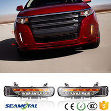 New 6 LED Front Bumper Fog Lamp Daytime Running Light DRL For Ford Edge 2011 2012 2013 2014 Modify Fog Lights With Turn Signal