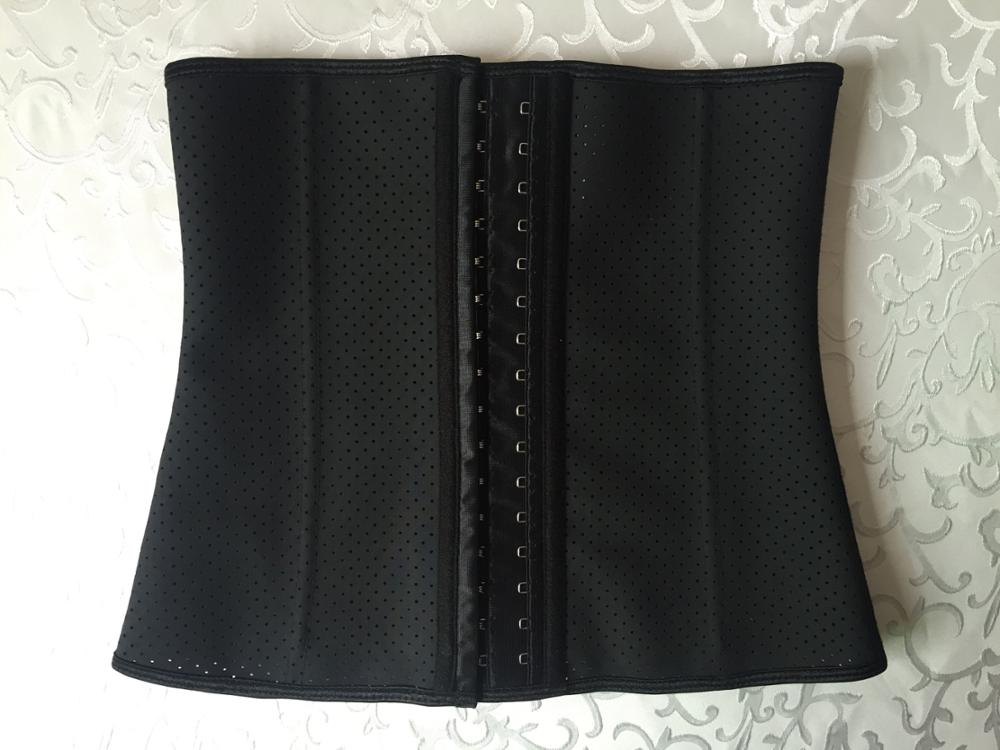 Latex hook women latex slimming waist trainer corset waist shaper corset